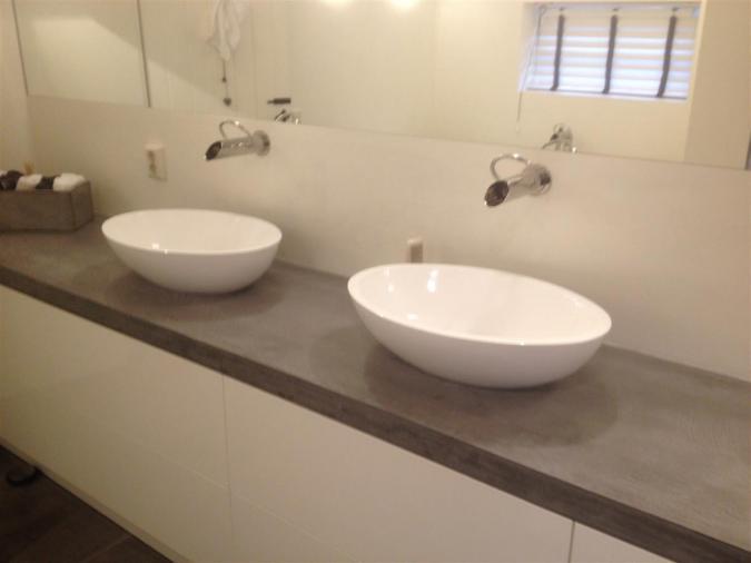 badkamer met beal en freshcolori (italiaans stucwerk) - kees de, Badkamer
